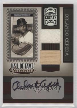 2005 Donruss Greats - Hall of Fame Souvenirs - Combo Materials Signatures [Autographed] [Memorabilia] #HOFS-22 - Orlando Cepeda