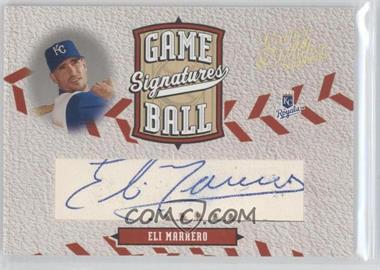 2005 Donruss Leather & Lumber - Game Ball Signatures #GB-3 - Eli Marrero /24