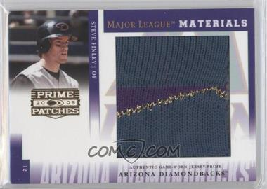 2005 Donruss Prime Patches - Major League Materials - Jumbo Swatch Prime #MLM-14 - Steve Finley /9