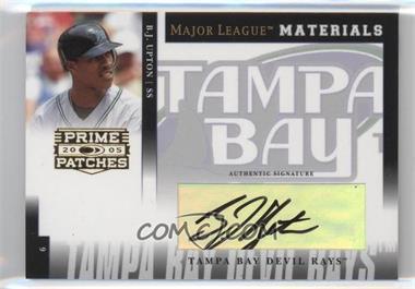 2005 Donruss Prime Patches - Major League Materials - Signature [Autographed] #MLM-22 - B.J. Upton