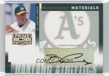 2005 Donruss Prime Patches - Major League Materials - Signature [Autographed] #MLM-44 - Bobby Crosby