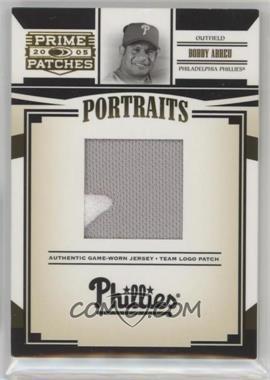 2005 Donruss Prime Patches - Portraits - Team Logo Patch #P-60 - Bobby Abreu /127