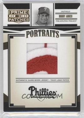 2005 Donruss Prime Patches - Portraits - Team Logo Patch #P-60 - Bobby Abreu /127