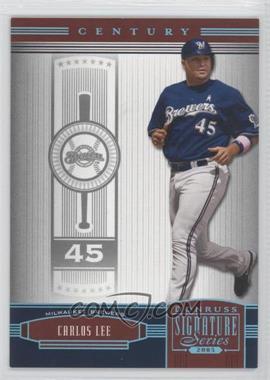 2005 Donruss Signature Series - [Base] - Century Platinum #65 - Carlos Lee /10