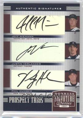 2005 Donruss Signature Series - [Base] #157 - Jeff Niemann, Justin Verlander, Philip Humber