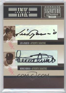 2005 Donruss Signature Series - INKcredible Combos #IS-21 - Luis Aparicio, Minnie Minoso