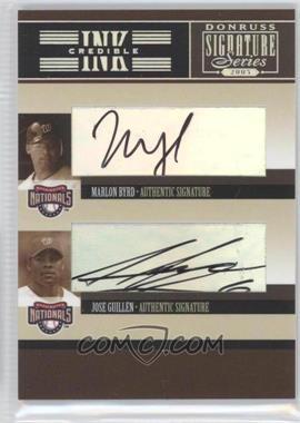 2005 Donruss Signature Series - INKcredible Signatures Quads #IS-61 - Marlon Byrd, Jose Guillen, Livan Hernandez, Esteban Loaiza
