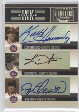 2005 Donruss Signature Series - INKcredible Signatures Trios #IS-42 - Lenny Dykstra, Jesse Orosco, Keith Hernandez