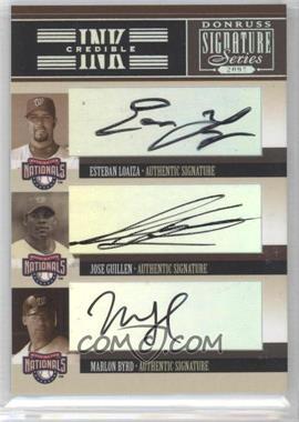 2005 Donruss Signature Series - INKcredible Signatures Trios #IS-43 - Esteban Loaiza, Jose Guillen, Marlon Byrd