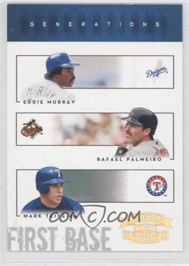 2005 Donruss Throwback Threads - Generations - Gold Century Proof #G-19 - Eddie Murray, Rafael Palmeiro, Mark Teixeira /100