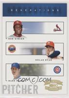 Bob Gibson, Mark Prior, Nolan Ryan #/100