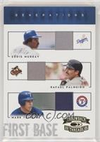 Eddie Murray, Mark Teixeira, Rafael Palmeiro [EX to NM] #/50