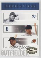 Babe Ruth, Ted Williams, Willie Mays