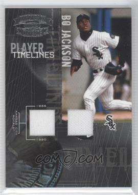 2005 Donruss Throwback Threads - Player Timelines - Materials [Memorabilia] #PT-5 - Bo Jackson /100