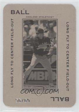2005 Donruss Throwback Threads - Polo Grounds - Ball Long Fly to Center Field-Out 65 #PG-13 - Mark Kotsay /65