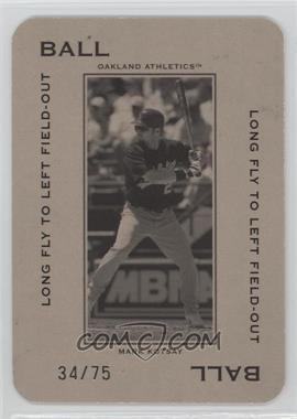 2005 Donruss Throwback Threads - Polo Grounds - Ball Long Fly to Left Field-Out 75 #PG-13 - Mark Kotsay /75