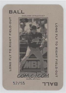 2005 Donruss Throwback Threads - Polo Grounds - Ball Long Fly to Right Field-Out 55 #PG-13 - Mark Kotsay /55