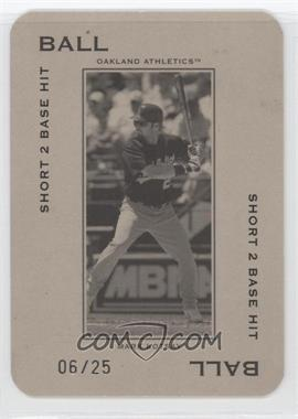2005 Donruss Throwback Threads - Polo Grounds - Ball Short 2 Base Hit 25 #PG-13 - Mark Kotsay /25