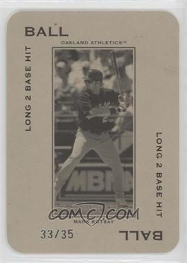 2005 Donruss Throwback Threads - Polo Grounds - Ball Short Fly to Center Field-Out 35 #PG-13 - Mark Kotsay /35