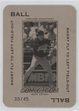 2005 Donruss Throwback Threads - Polo Grounds - Ball Short Fly to Left Field-Out 45 #PG-13 - Mark Kotsay /45