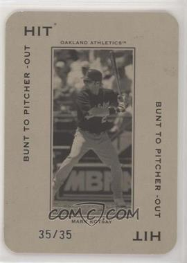 2005 Donruss Throwback Threads - Polo Grounds - Hit Bunt to Pitcher-Out 35 #PG-13 - Mark Kotsay /35