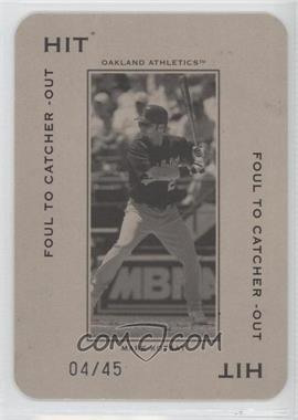 2005 Donruss Throwback Threads - Polo Grounds - Hit Foul to Catcher -Out 45 #PG-13 - Mark Kotsay /45
