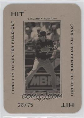 2005 Donruss Throwback Threads - Polo Grounds - Hit Long Fly to Center Field-Out 75 #PG-13 - Mark Kotsay /75