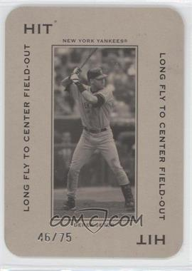 2005 Donruss Throwback Threads - Polo Grounds - Hit Long Fly to Center Field-Out 75 #PG-88 - Derek Jeter /75