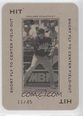 2005 Donruss Throwback Threads - Polo Grounds - Hit Short Fly to Center Field-Out 45 #PG-13 - Mark Kotsay /45