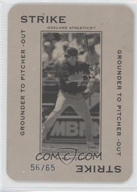 2005 Donruss Throwback Threads - Polo Grounds - Strike Grounder to Pitcher -Out 65 #PG-13 - Mark Kotsay /65