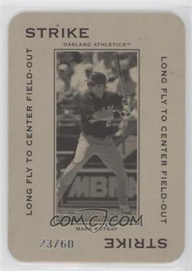 2005 Donruss Throwback Threads - Polo Grounds - Strike Long Fly to Center Field-Out 60 #PG-13 - Mark Kotsay /60