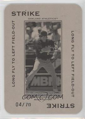 2005 Donruss Throwback Threads - Polo Grounds - Strike Long Fly to Left Field-Out 70 #PG-13 - Mark Kotsay /70