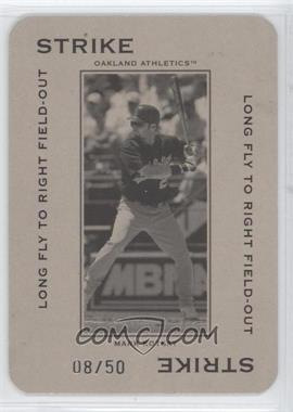 2005 Donruss Throwback Threads - Polo Grounds - Strike Long Fly to Right Field-Out 50 #PG-13 - Mark Kotsay /50