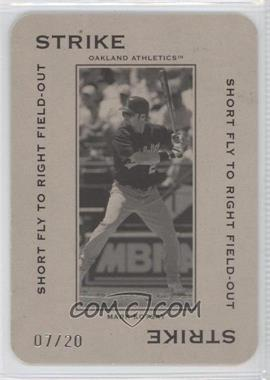 2005 Donruss Throwback Threads - Polo Grounds - Strike Short Fly to Right Field-Out 20 #PG-13 - Mark Kotsay /20