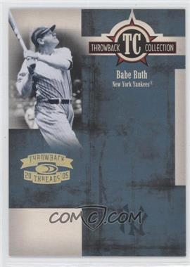 2005 Donruss Throwback Threads - Throwback Collection - Gold Century Proof #TC-3 - Babe Ruth /100