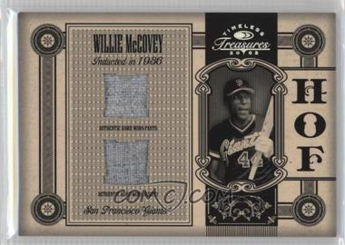 2005 Donruss Timeless Treasures - [???] #HOF-18 - Willie McCovey /25