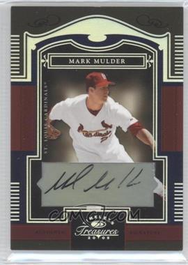 2005 Donruss Timeless Treasures - [Base] - Silver Autographs [Autographed] #20 - Mark Mulder /50
