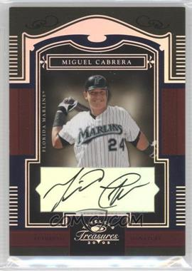 2005 Donruss Timeless Treasures - [Base] - Silver Autographs [Autographed] #24 - Miguel Cabrera /25