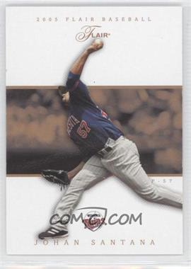 2005 Flair - [Base] - Row 1 #30 - Johan Santana /100