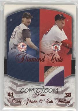 2005 Flair - Diamond Cuts - Red Foil Patch #DC-CS - Randy Johnson, Curt Schilling (Patch) /50