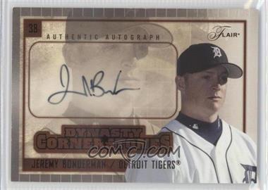 2005 Flair - Dynasty Cornerstones Autograph #DC-JB - Jeremy Bonderman /75