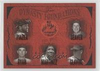 Mike Piazza, Tom Seaver, Pedro Martinez, Tom Glavine, Nolan Ryan /500