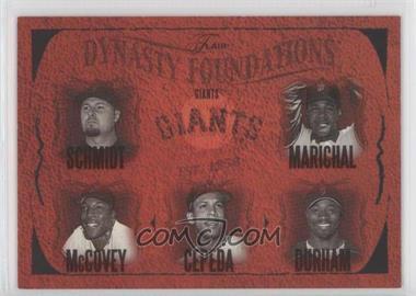 2005 Flair - Dynasty Foundations #24DF - Jason Schmidt, Juan Marichal, Ray Durham, Willie McCovey /500
