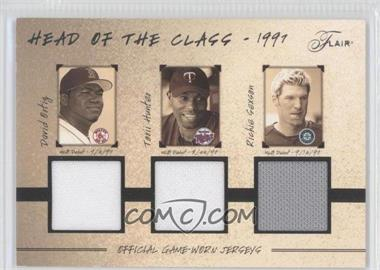 2005 Flair - Head Of The Class Triple Jersey #HOC-DO/TG/RS - Torii Hunter, Richie Sexson, David Ortiz /97