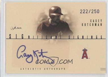 2005 Flair - Significant Signings - Blue #SS-CK - Casey Kotchman /250