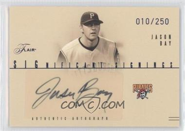 2005 Flair - Significant Signings - Blue #SS-JB - Jason Bay /250