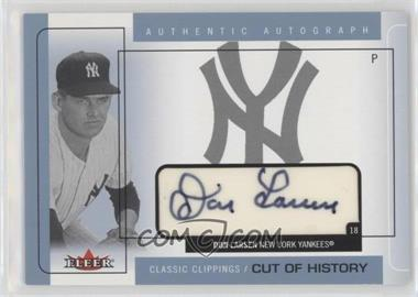 2005 Fleer Classic Clippings - Cuts of History Single - Blue Autographs [Autographed] #CHA-DL - Don Larsen