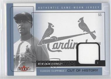 2005 Fleer Classic Clippings - Cuts of History Single - Blue Materials [Memorabilia] #CH-OS - Ozzie Smith