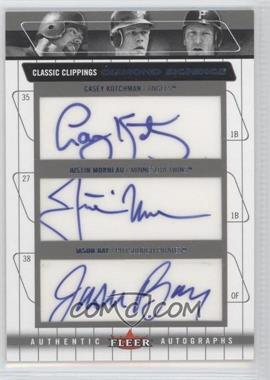 2005 Fleer Classic Clippings - Diamond Signings Triple - Blue #DS-CK JM JB - Casey Kotchman /86