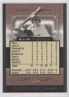 2005 Fleer Classic Clippings - Official Box Score #7 CC - Carlton Fisk /1975